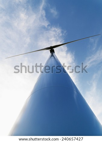 Windmill and Sky - stock photo