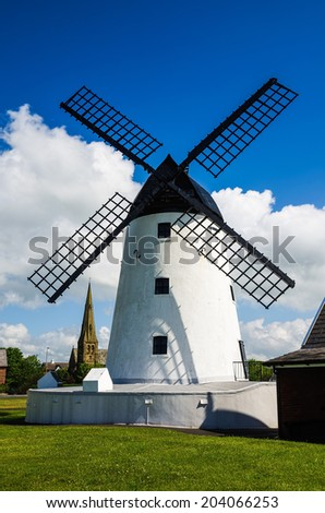 Windmill at Lytham-St-Annes  - stock photo