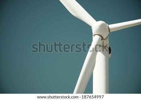 Windmill for electric power production, Pozuelo de Aragon, Zaragoza, Aragon, Spain - stock photo