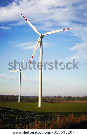 Windmills in Poland - stock photo