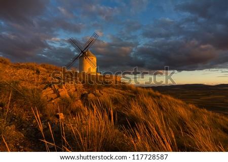 Windmills, Spain - stock photo