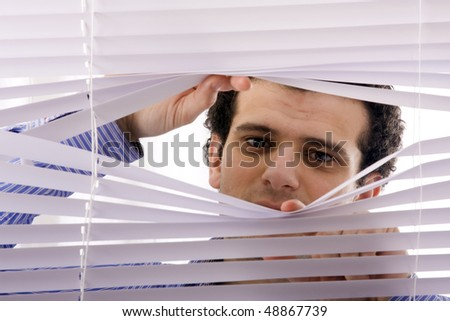 window blinds - stock photo