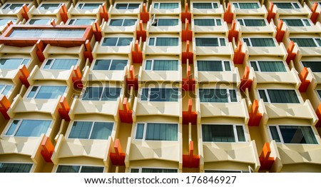 Window Condo pattern1 - stock photo