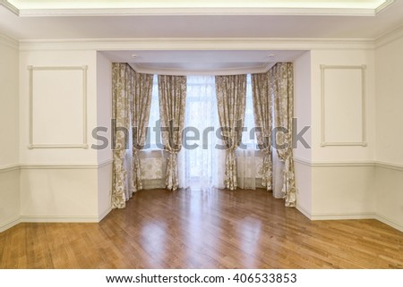 window decoration curtains - stock photo