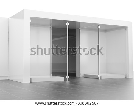 window display or glass case - stock photo