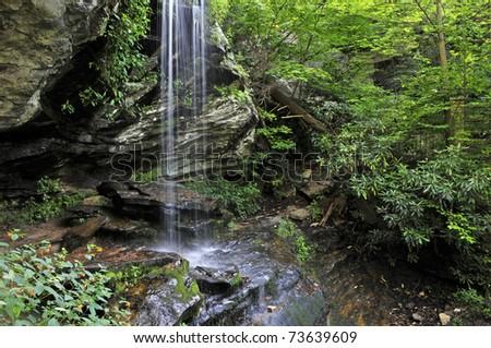 Window Falls, Hanging Rock State Park, North Carolina Horizon - stock photo