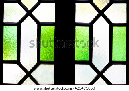 Window glass for texture background. - stock photo