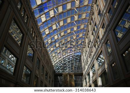 window glazing modern building - stock photo