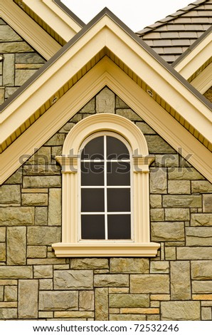 Window of a house in Vancouver, Canada. - stock photo