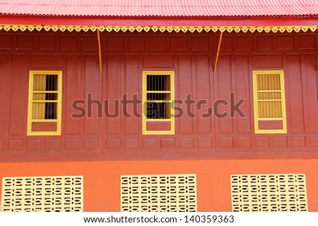 Window of a old monk house. - stock photo