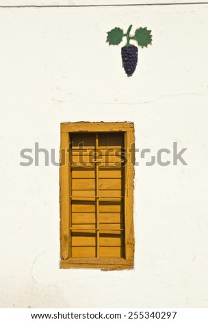 Window of a wine cellar - stock photo