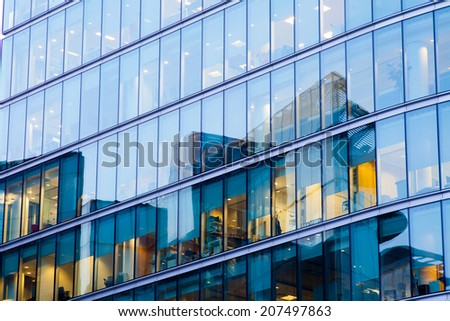 window office room building for background  - stock photo