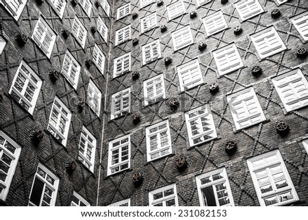 window pattern at Europe - stock photo