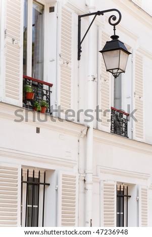 Window shutters - stock photo