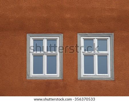 window with glazing bars - stock photo