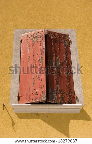 Window with hatches - stock photo