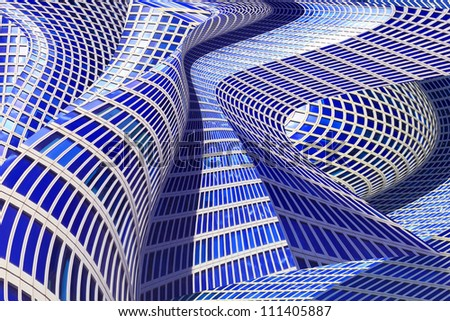 Windows Architecture Abstract - stock photo