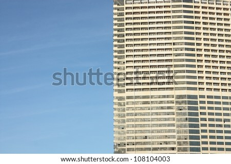windows building with the blue sky - stock photo