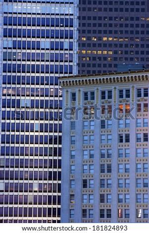 Windows composition - seen in Atlanta, Georgia. - stock photo