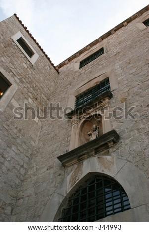 Windows in Dubrovnik, Croatia. - stock photo