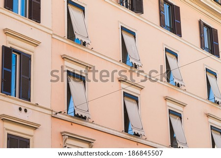 Windows in Rome - stock photo