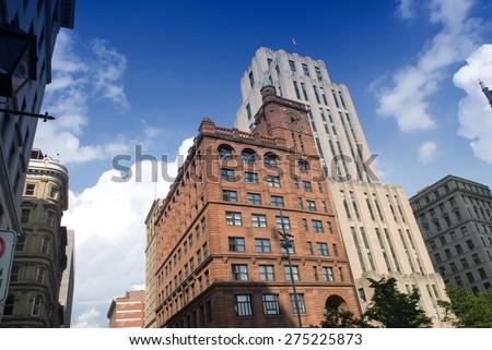 windows, Montreal, Quebec, Canada - stock photo