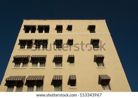Windows of apartment building on Key West, Florida. - stock photo