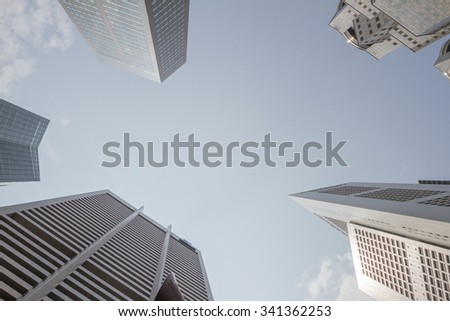 Windows of modern office buildings, Skyscraper Business Office. - stock photo