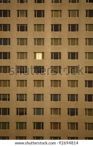 Windows of the building work - stock photo