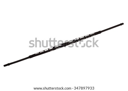 windscreen wipers inside view isolated on a white background - stock photo
