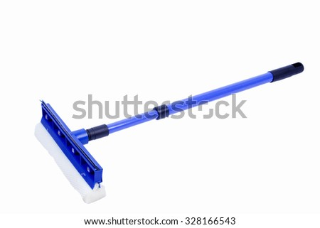 windshield cleaning tool on on white background - stock photo