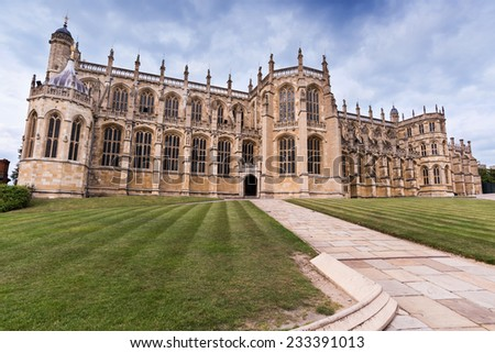 Windsor Castle Cathedral Grounds - stock photo