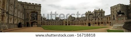 Windsor Castle panoramic view, UK - stock photo