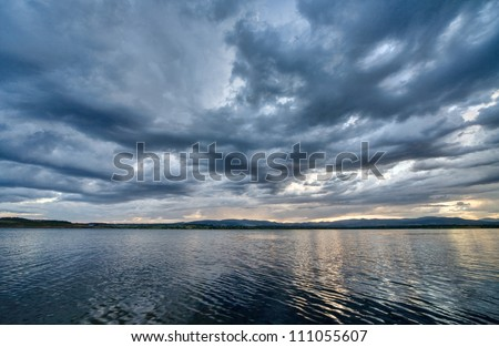Windstorm - stock photo