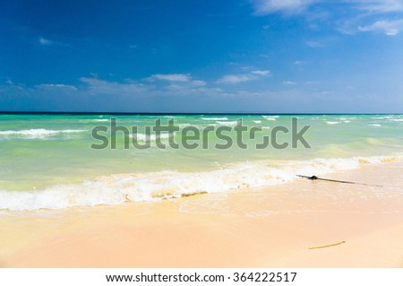 Windy Holiday Vacation Wallpaper  - stock photo