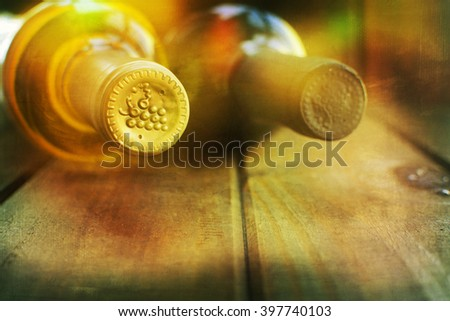 Wine and grape - stock photo