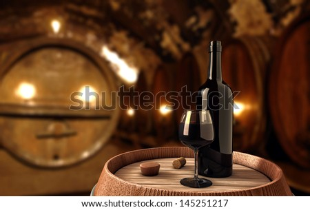 Wine background - stock photo