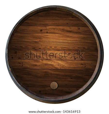 Wine barrels isolated white background - stock photo