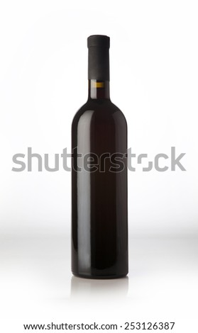 Wine bottle. - stock photo