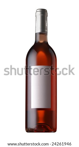wine bottle isolated - stock photo