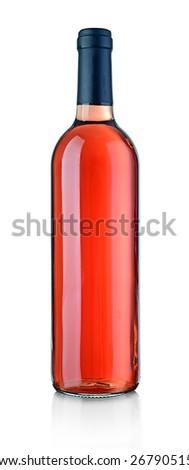 Wine bottle isolated on white - stock photo