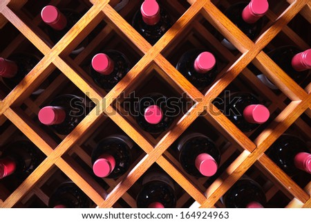 wine cabinet - stock photo