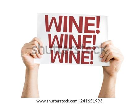 Wine card isolated on white background - stock photo