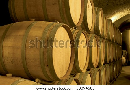 Wine Cave - stock photo