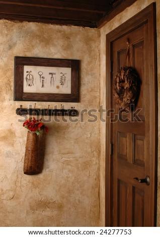 Wine cellar door. - stock photo
