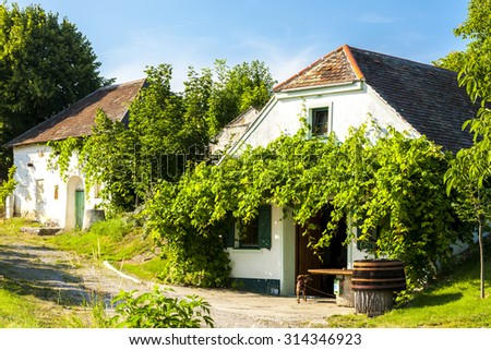 wine cellars, Oberstinkenbrunn, Lower Austria, Austria - stock photo