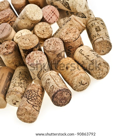 Wine cork on white background - stock photo