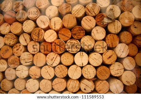Wine cork pattern - stock photo