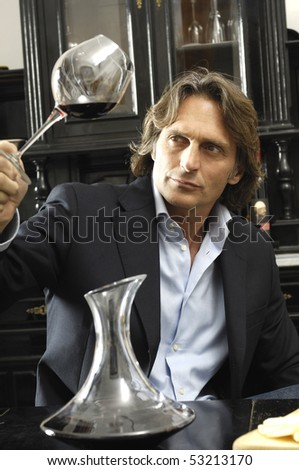 wine expert - stock photo