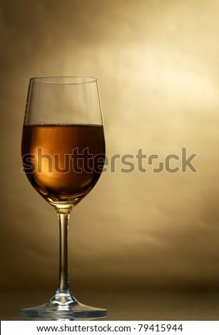 Wine glass - stock photo